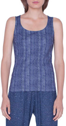 Akris Printed Cotton Jersey Tank