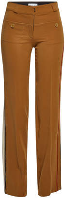 Carven Wide Leg Pants with Distressed Detail
