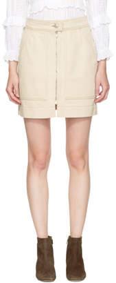 Isabel Marant Ecru Denim Penelope Miniskirt