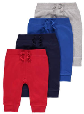 George Assorted Joggers 4 Pack
