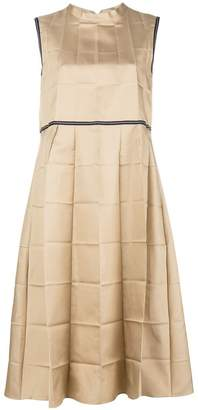 Marni pleated flare dress