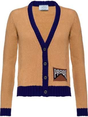 Prada Cashmere cardigan with logo