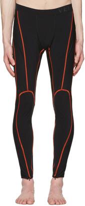 Versace Underwear Black Running Leggings $525 thestylecure.com