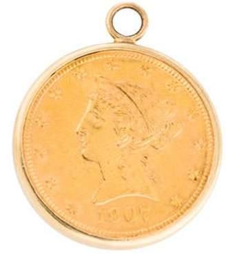 Vintage Coronet Head Ten Dollar Eagle Coin Pendant yellow Vintage Coronet Head Ten Dollar Eagle Coin Pendant