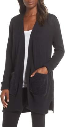 UGG Lauren Open Front Faux Fur Pocket Cardigan