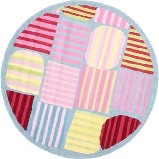 Safavieh Kids Melany Geometric Stripes Round Area Rug