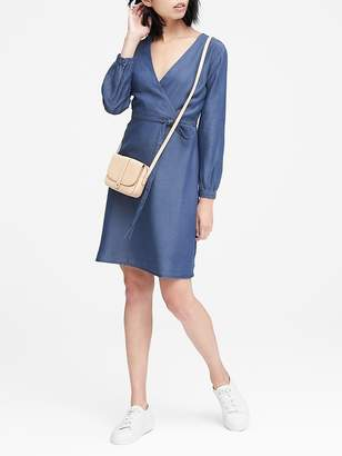 Banana Republic TENCELTM Chambray Wrap Dress