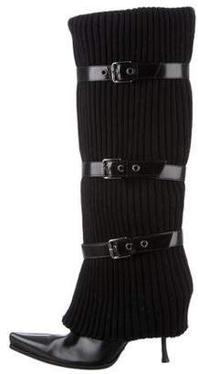 Dolce & Gabbana Pointed-Toe Knee-High Boots