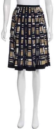 Oscar de la Renta Pleated Silk Skirt