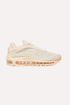Nike Deluxe Corduroy And Leather Sneakers - Blush