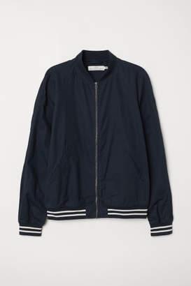 H&M Cotton Bomber Jacket - Blue