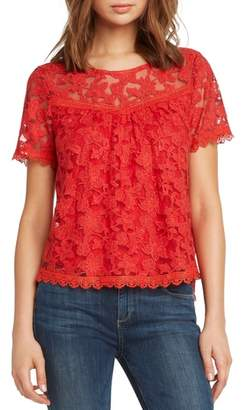 Willow & Clay Inset Detail Lace Top