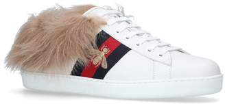 Gucci Fur Lined New Ace Sneakers