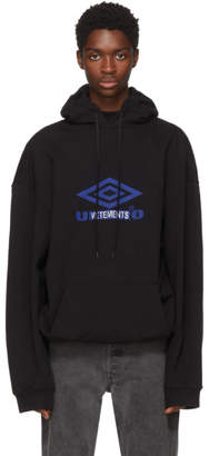 Vetements Black Umbro Edition Oversized Hoodie