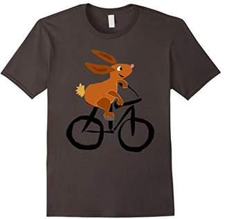 Smiletodaytees Cute Bunny Rabbit Riding Bicycle T-shirt