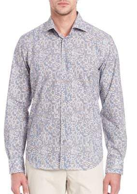 Saks Fifth Avenue Regular-Fit Abstract Printed Shirt