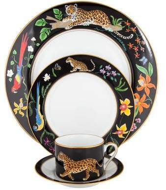 Lynn Chase 12-Piece Jaguar Jungle Dinner Service