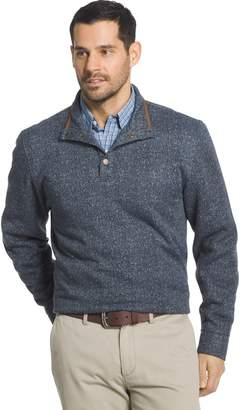 Arrow Men's Classic-Fit Herringbone Mockneck Fleece Sweater
