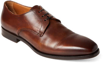 Doucal's Leather Square Toe Oxfords