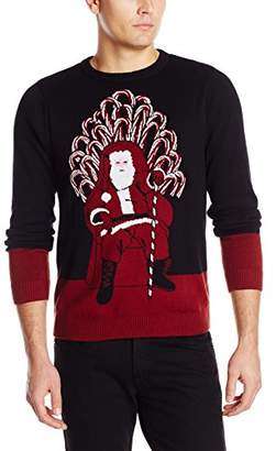 Alex Stevens Men's Santa's Candy Cane Throne Ugly Christmas Sweater