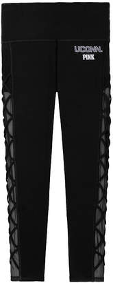 Victoria's Secret Victorias Secret University of Connecticut Cotton High Waist Lace-Up Mesh Ankle Legging