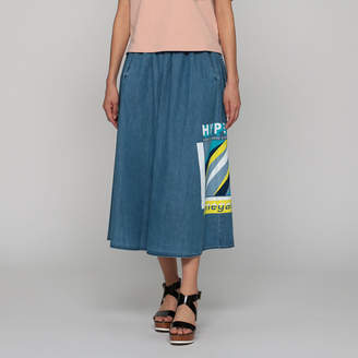 Kenzo (ケンゾー) - ケンゾー SOFT FLARE MIDI DENIM SKIRT