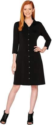 Halston H By H by Petite Jet Set Jersey Knit Shirt Dress