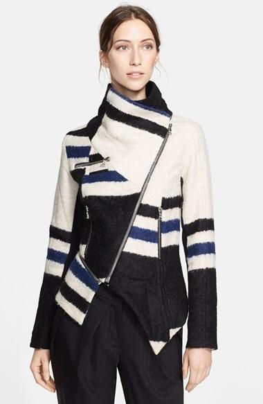 Yigal Azrouel Linen & Alpaca Blend Jacket