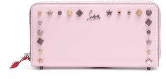 Christian Louboutin Panettone pink leather spike wallet