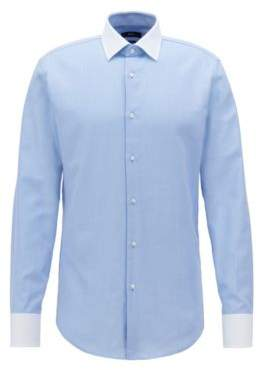 BOSS Hugo Slim-fit shirt contrast collar & cuffs 15.5 Light Blue