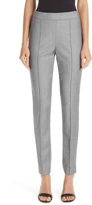 St. John Sharkskin Stretch Wool Blend Skinny Ankle Pants