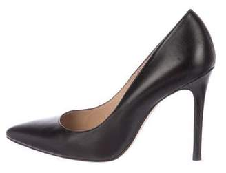 LK Bennett Leather Pointed-Toe Pumps