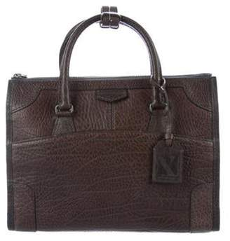 Reed Krakoff Grained Leather Satchel Brown Grained Leather Satchel