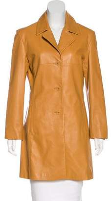 Andrew Marc Structured Leather Coat