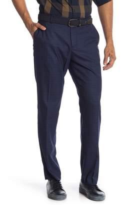 "Perry Ellis Plaid Print Stretch Slim Fit Pants - 32\"" Inseam"