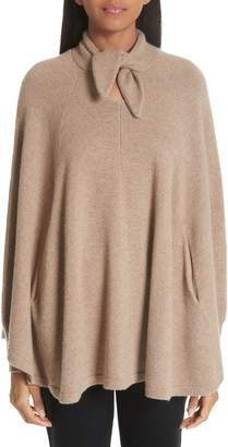 Co Wool & Cashmere Tie Neck Sweater Cape