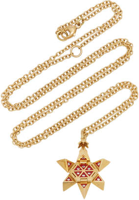 Santo by Zani 18K Yellow Gold Star of Creation Orb Necklace