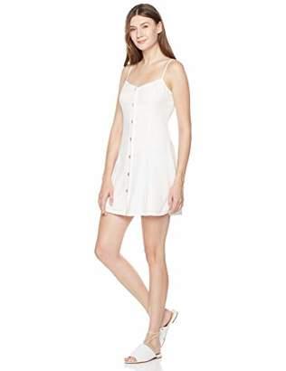 Plumberry Women's Cami Dress Spaghetti Button Down Summer Short Dress L