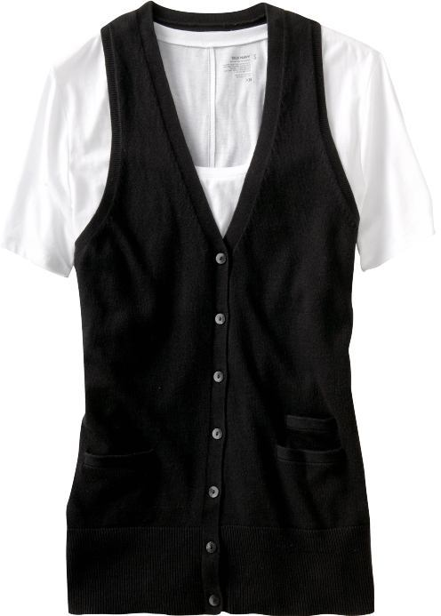 Women's Button-Front Sweater Vests