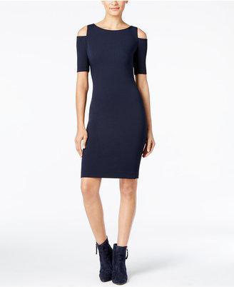 MICHAEL Michael Kors Cold-Shoulder Sheath Dress $175 thestylecure.com