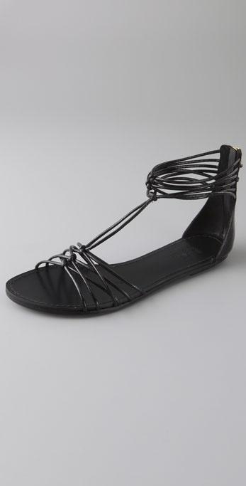 Belle By Sigerson Morrison Tubular Zip Back Flat Sandals