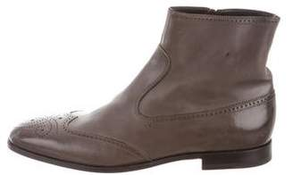 Fratelli Rossetti Brogue Leather Ankle Boots
