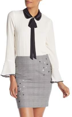 Cynthia Steffe CeCe by Collar Neck Tie Blouse