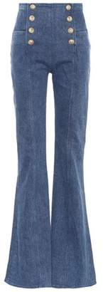 Balmain High-waisted flared jeans