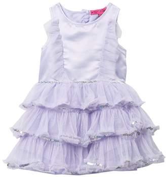 Betsey Johnson Sequin Ruffle Dress (Toddler Girls)