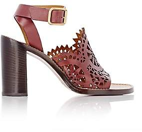 Chloé Women's Lucy Cutout Leather Sandals - Bordeaux