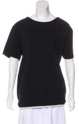 Dries Van Noten Open-Back Short Sleeve Top