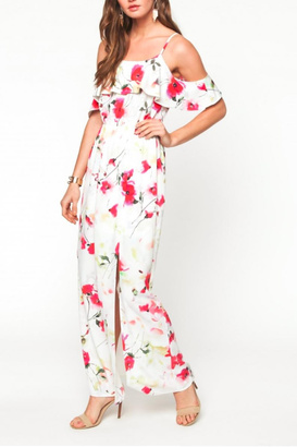 Everly Floral Cold Shoulder Maxi $78 thestylecure.com