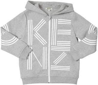 Kenzo Logo Zip-Up Cotton Sweatshirt Hoodie