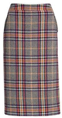 Halogen Plaid Pencil Skirt